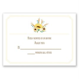 Country Sunflowers - Honey - Response Card and Envelope
