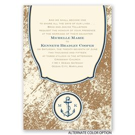 Vintage Nautical - Ecru - Invitation