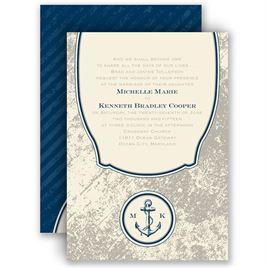 Navy Blue Wedding Invitations: 