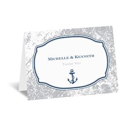 Vintage Nautical - Thank You Card and Envelope