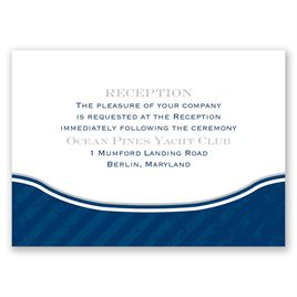 Vintage Nautical - Reception Card