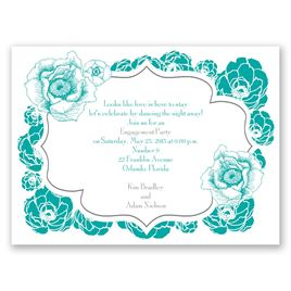 Engagement Party Invitations: Pretty Flowers Petite Engagement Party Invitation