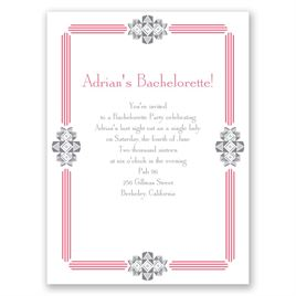 Bling Border - Bachelorette Party Invitation