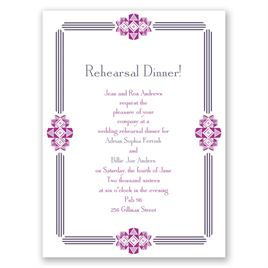 Bling Border - Petite Rehearsal Dinner Invitation