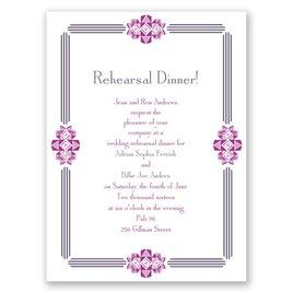 Bling Border - Petite Rehearsal Dinner Invitation