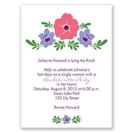 Blooming Vintage - Ghost - Bachelorette Party Invitation