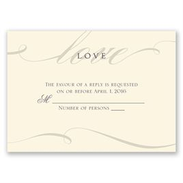Love Never Fails - Ecru - Response Card and Envelope