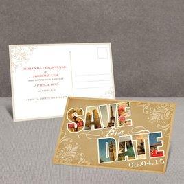 Souvenir - European - Save the Date Postcard