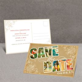 Souvenir - Tropical - Save the Date Postcard