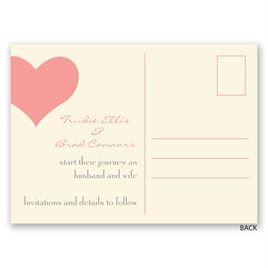 Heart Web - Ecru - Save the Date Postcard
