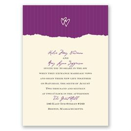 Mrs. and Mrs. - Ecru - Invitation