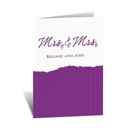 Mrs. and Mrs. - Note Card and Envelope