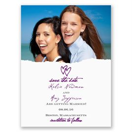 Mrs. and Mrs. - Save the Date Card