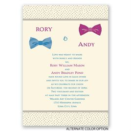 Bow Ties - Ecru - Invitation