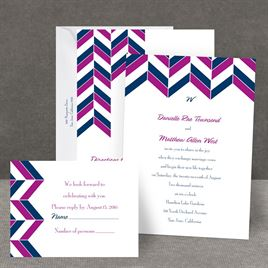 Chevron Charm - All in One Invitation