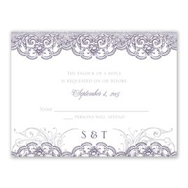 Lacy Flourishes - All In One Invitation