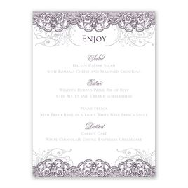 Lacy Flourishes - Menu Card