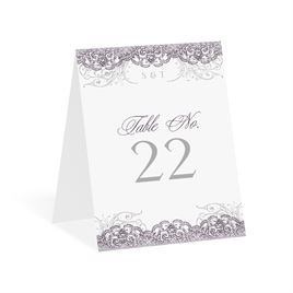 Lacy Flourishes - Table Number Card
