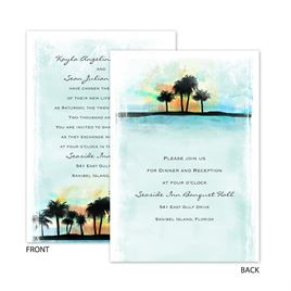 Tropical Watercolors - All In One Invitation