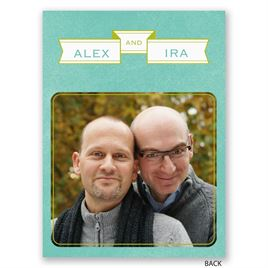 Two Grooms - Save the Date Card