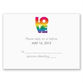 Rainbow Love - Response Card and Envelope