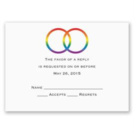 Rainbow Rings - Response Card and Envelope