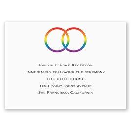 Rainbow Rings - Reception Card