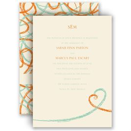 Heart Wedding Invitations: 