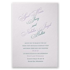 Elegant Wedding Invitations: Simply Sensational Letterpress Invitation