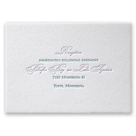 Simply Sensational - Letterpress Reception Card