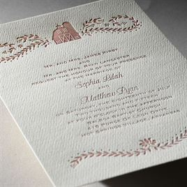 Sweet Barn - Ecru - Featherpress Invitation