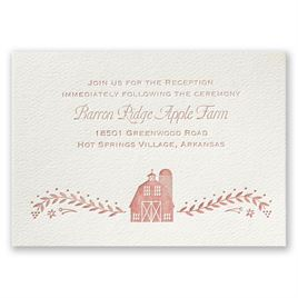 Sweet Barn - Ecru - Featherpress Reception Card