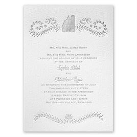 Sweet Barn - White - Featherpress Invitation