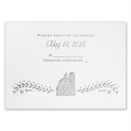 Sweet Barn - White - Featherpress Response Card