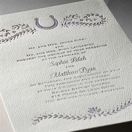 Horseshoe - Ecru - Featherpress Invitation