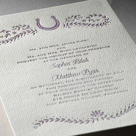 Horseshoe - Ecru - Featherpress Invitation