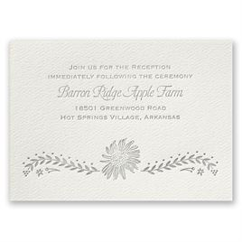 Sunflower Delight - Ecru - Featherpress Reception Card