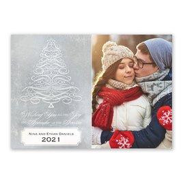 Calligraphy Tree - Photo Holiday Card