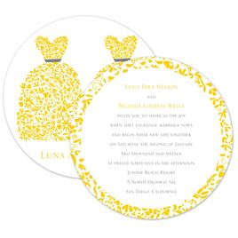 Flat Printed Wedding Invitations: 