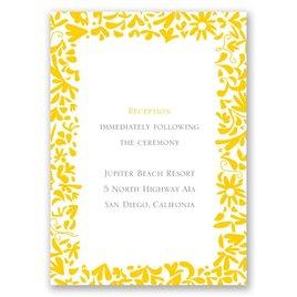 Patterned Dresses - Reception Card