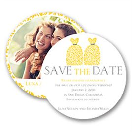 Yellow Save The Dates: 