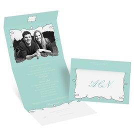 Aqua Wedding Invitations: Whimsy Frames - Seal and Send Invitation