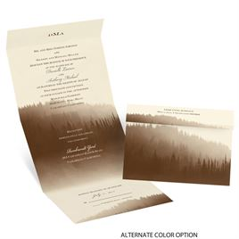 Watercolor Forest - Ecru - Seal and Send Invitation