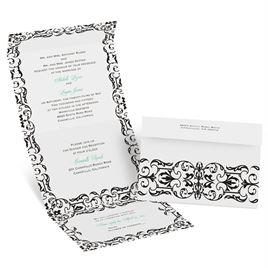 Damask Accents - Seal and Send Invitation