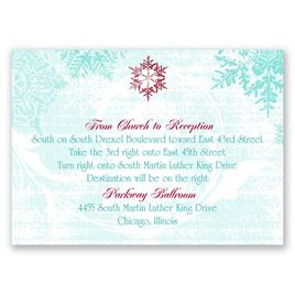 Snowflakes and Swirls - Aqua - Map Card