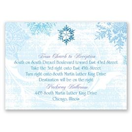 Snowflakes and Swirls - Celestial Blue - Map Card