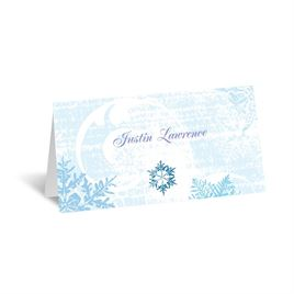 Snowflakes and Swirls - Celestial Blue - Place Card