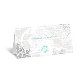 Snowflakes and Swirls - Pewter - Place Card