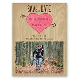 Natural Look - Posie Pink - Save the Date Magnet