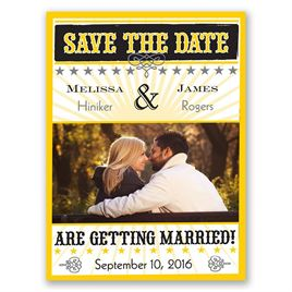 Star Studded - Citrus - Save the Date Magnet